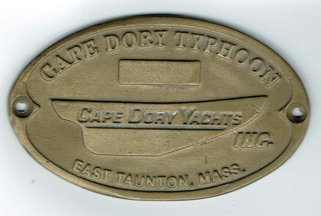 Cape Dory Builders Plaque